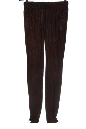 Mandarin Leggings braun Casual-Look
