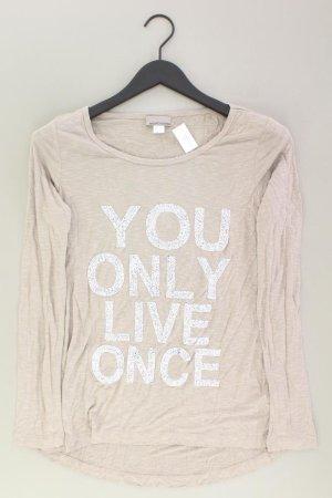 Mandarin Sweatshirt Größe 38 braun aus Viskose