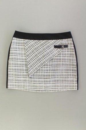 Mandarin Tweedrock Größe 40 Vintage weiß aus Baumwolle