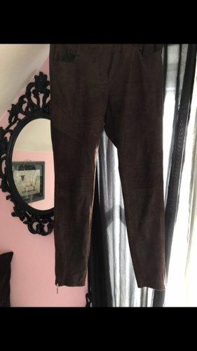 Mandarin Wildleder Hose Legging gr. 40 braun