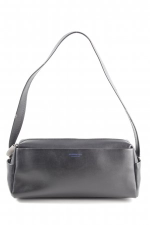 Mandarina Duck Mini sac noir lettrage imprimé style d'affaires