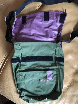 Mandarina Duck Shoulder Bag olive green-blue violet mixture fibre