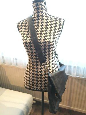 MANDARINA DUCK Umhängetasche Tasche FREEDOM mit 2 Möglichkeiten zu tragen, LEDER, schwarz, wie NEU