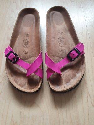 Mandèl / Pantoletten / Sandalen / Fußbett / pink / Größe 39