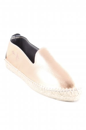 "Manebi Espadrille sandalen ""Los Angeles Laminated Leather Espadrilles Light Rose"""