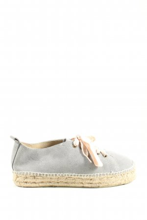 Manebi Lace Shoes light grey-natural white casual look