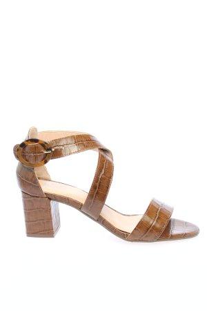 Manfield Comfort Sandals brown animal pattern casual look