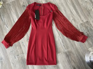 Mangano Fringed Dress bordeaux
