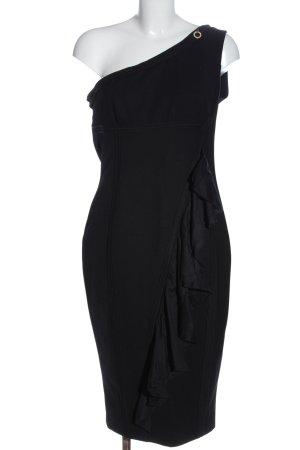 Mangano Robe asymétrique noir élégant