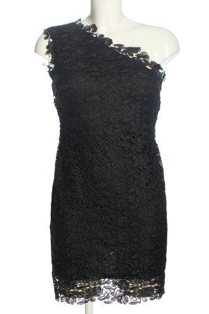 Mangano Spitzenkleid schwarz Blumenmuster Elegant