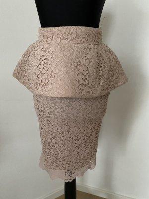 Mangano Falda de encaje rosa empolvado