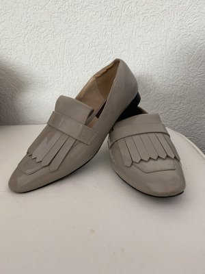 Mango Moccasins silver-colored-light grey