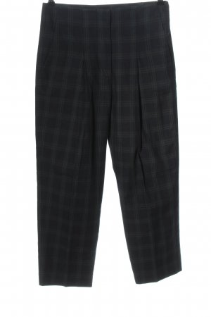 Mango 7/8 Length Trousers blue-green check pattern casual look