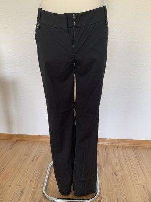 Mango Spodnie materiałowe czarny