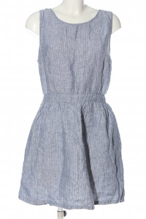 Mango A-Linien Kleid blau-weiß Streifenmuster Casual-Look