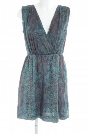 Mango A-Linien Kleid abstraktes Muster Casual-Look