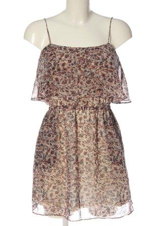 Mango A-Linien Kleid wollweiß-rot abstraktes Muster Elegant