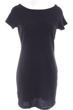Mango A-Linien Kleid schwarz Streifenmuster Casual-Look