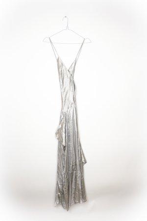 Mango Evening Dress silver-colored