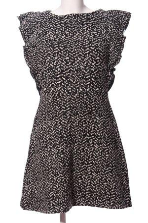 Mango Abendkleid schwarz-weiß Allover-Druck Casual-Look