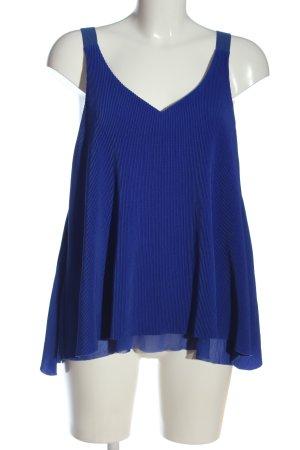 Mango ärmellose Bluse blau Party-Look