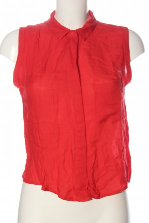 Mango Mouwloze blouse rood casual uitstraling