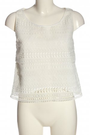Mango Lace Top white casual look