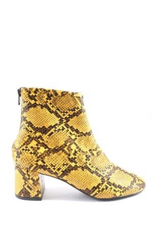 Mango Ankle Boots blassgelb-braun Animalmuster Casual-Look