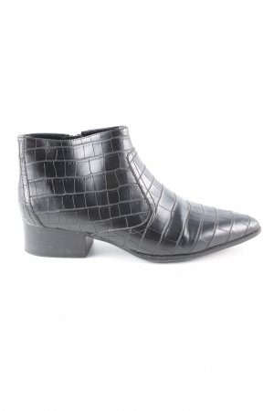 Mango Ankle Boots schwarz Animalmuster Business-Look