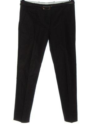 Mango Spodnie garniturowe czarny W stylu biznesowym