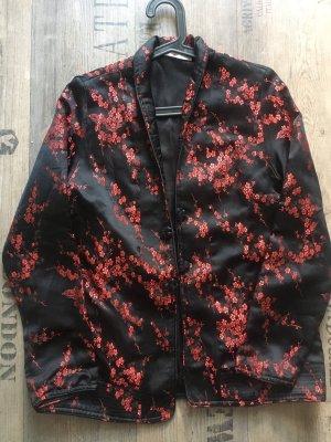 Mango Between-Seasons Jacket black-dark red