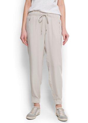 Mango Baggy Chino Hose Haremshose Jeans Pants Blogger Leggings Suit Plissiert Jogginghose
