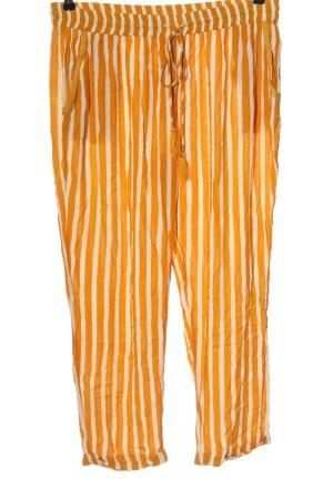 Mango Baggy Pants light orange-white casual look
