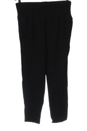 Mango Luźne spodnie czarny W stylu casual