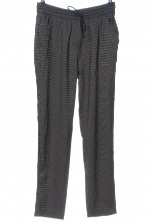 Mango Baggy Pants light grey-black check pattern casual look