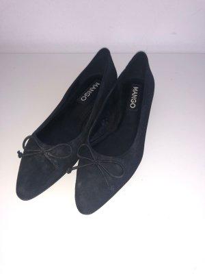 Mango Mary Jane Ballerinas black mixture fibre