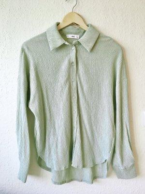 Mango Camicia a maniche lunghe verde chiaro-verde pallido