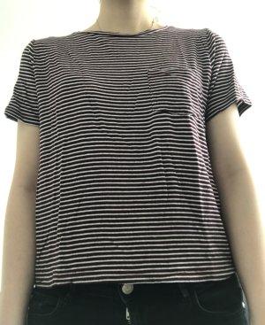 Mango Basic gestreifte T-Shirt, Größe S