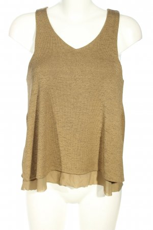 Mango Basics A Line Top brown-nude flecked casual look