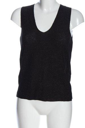 Mango Basics Sweter bez rękawów z cienkiej dzianiny czarny W stylu casual