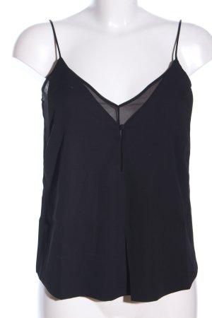 Mango Basics ärmellose Bluse schwarz Elegant