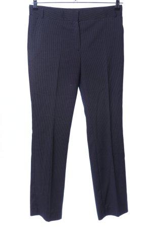 Mango Basics Anzughose schwarz Streifenmuster Business-Look