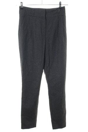 Mango Basics Pantalon zwart-lichtgrijs geruite print zakelijke stijl