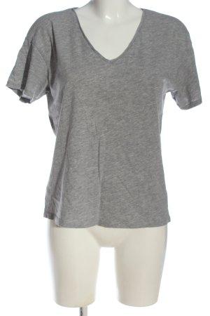 Mango Basics Basic-Shirt hellgrau meliert Casual-Look