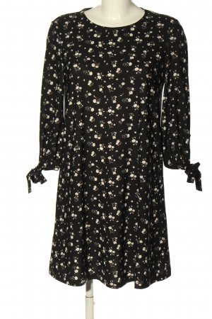 Mango Basics Blusenkleid schwarz-wollweiß Blumenmuster Casual-Look