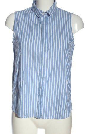 Mango Basics Camisa de mujer azul-blanco estampado a rayas look casual