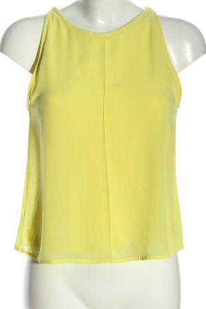 Mango Basics Camisa de mujer amarillo pálido look casual