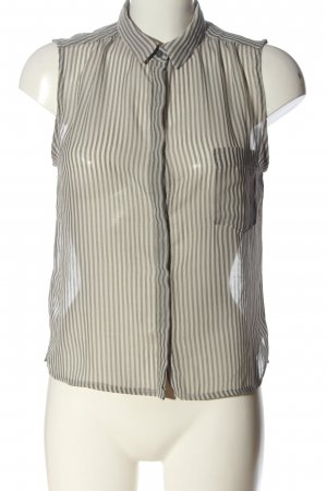 Mango Basics Camisa de mujer gris claro-blanco puro look casual
