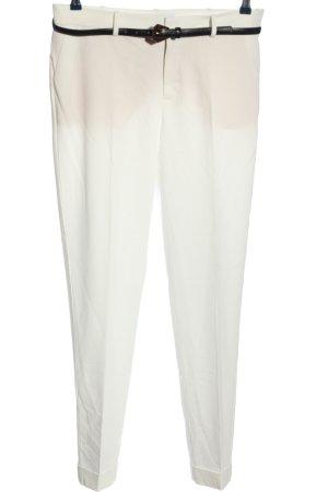 Mango Basics Pleated Trousers white casual look