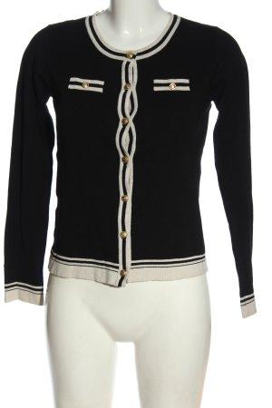 Mango Basics Kardigan czarny-w kolorze białej wełny W stylu casual